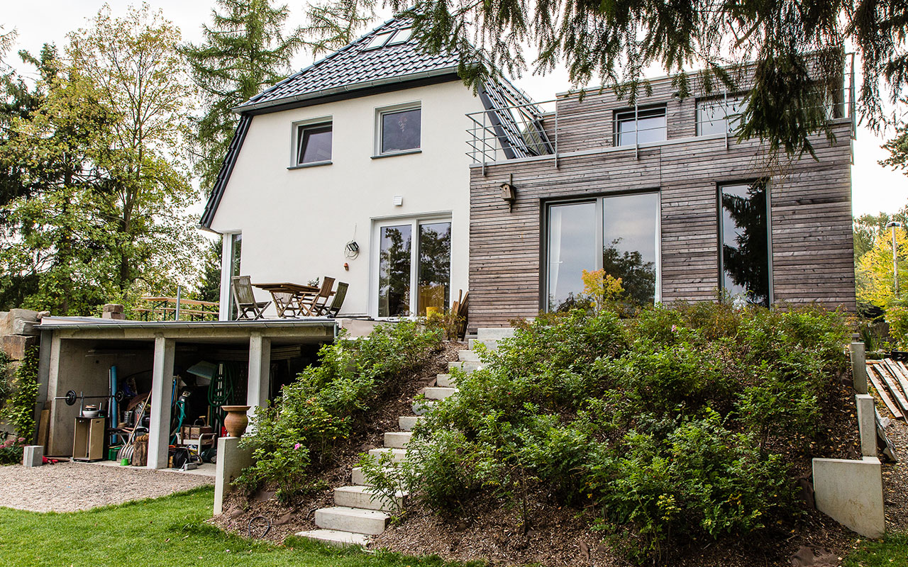 Um- und Anbau eines Einfamilienhauses - Arnulf Knoch Architekt Solingen