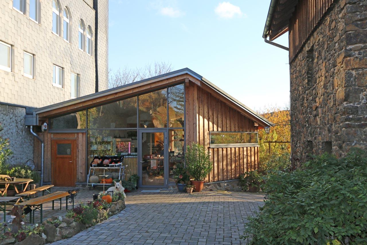 Gewerbliches Projekt Umbau Hofladen Eingang Nachher Arnulf Knoch