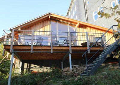 Hofladen Neubau Architekt Knoch Terrasse