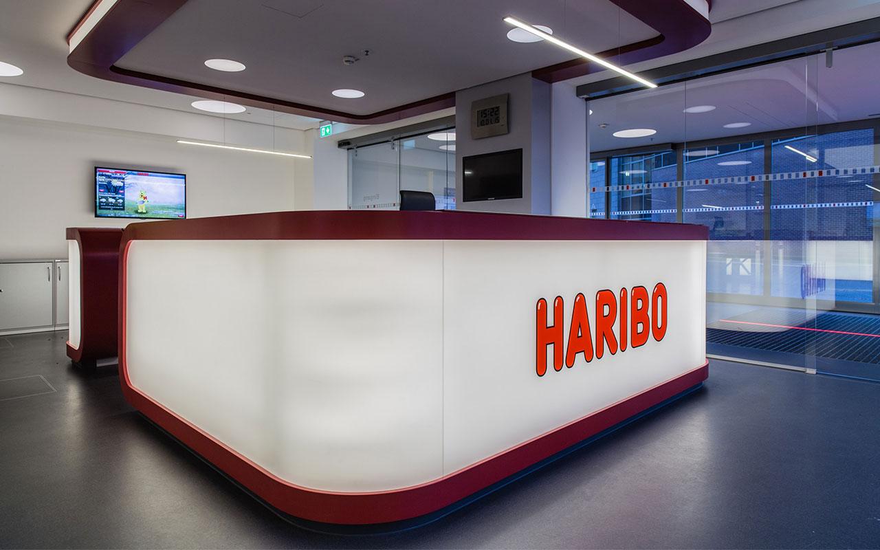 Gewerbliches Projekt Haribo Solingen Lobby Pförtnergebäude Arnulf Knoch